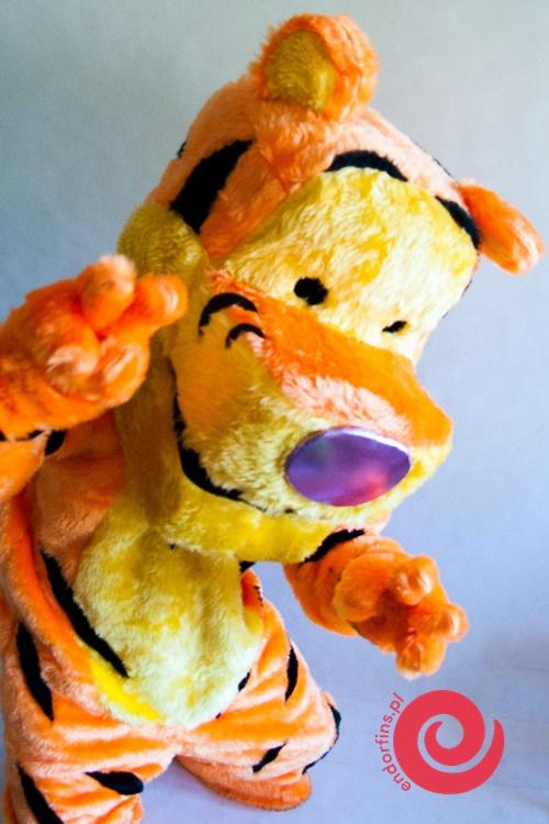 postacie z bajek - duża maskotka tygrys łódź